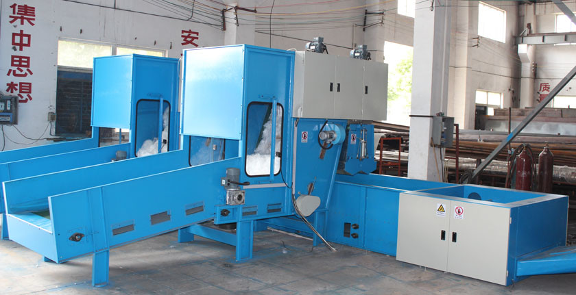 Idustrial Waste Infertility Cotton Waste Opening Machine , Textile Waste Recycling Machine